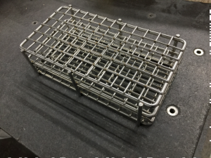Marlin Steel Wire Products made test tube racks over the weekend for a medical device company rapidly accelerating its COVID-19 testing. (Submitted photo)