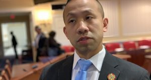 Sen Clarence Lam, D-Baltimore and Howard counties, who voted against five appointments to the University of  Maryland Medical System board of directors.(The Daily Record/Bryan P. Sears)