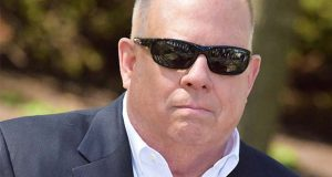 Gov. Larry Hogan at a news conference April 22 in Laurel. (The Daily Record / Bryan P. Sears)