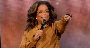 """FILE - This Feb. 8, 2020 file photo shows Oprah Winfrey during """"Oprah's 2020 Vision: Your Life in Focus"""" tour in New York. Winfrey announced Wednesday, May 20, 2020 that her Oprah Winfrey Charitable Foundation will donate money to organizations dedicated to helping undeserved communities in Chicago; Nashville, Tennessee; Milwaukee, Wisconsin; and Kosciusko, Mississippi, where she was born. (Photo by Brad Barket/Invision/AP, File)"""