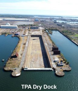 The dry dock at Sparrows Point dates back to 1971, and will be used to repair the floating Titan dry dock used to repair naval ships. (Photo courtesy Tradepoint Atlantic)