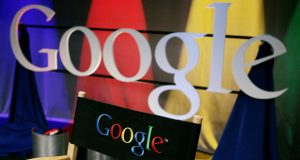 FILE - In this May 30, 2007 file photo, a Google sign inside Google headquarters is seen in Mountain View, Calif. A Paris court has convicted Google Inc. Friday, Dec. 18, 2009, in a copyright infringement case over online publication of French books.(AP Photo/Paul Sakuma, file)