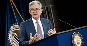 Jerome Powell, chairman of the Federal Reserve, during a news conference in Washington on March 3, 2020. MUST CREDIT: Bloomberg photo by Andrew Harrer.