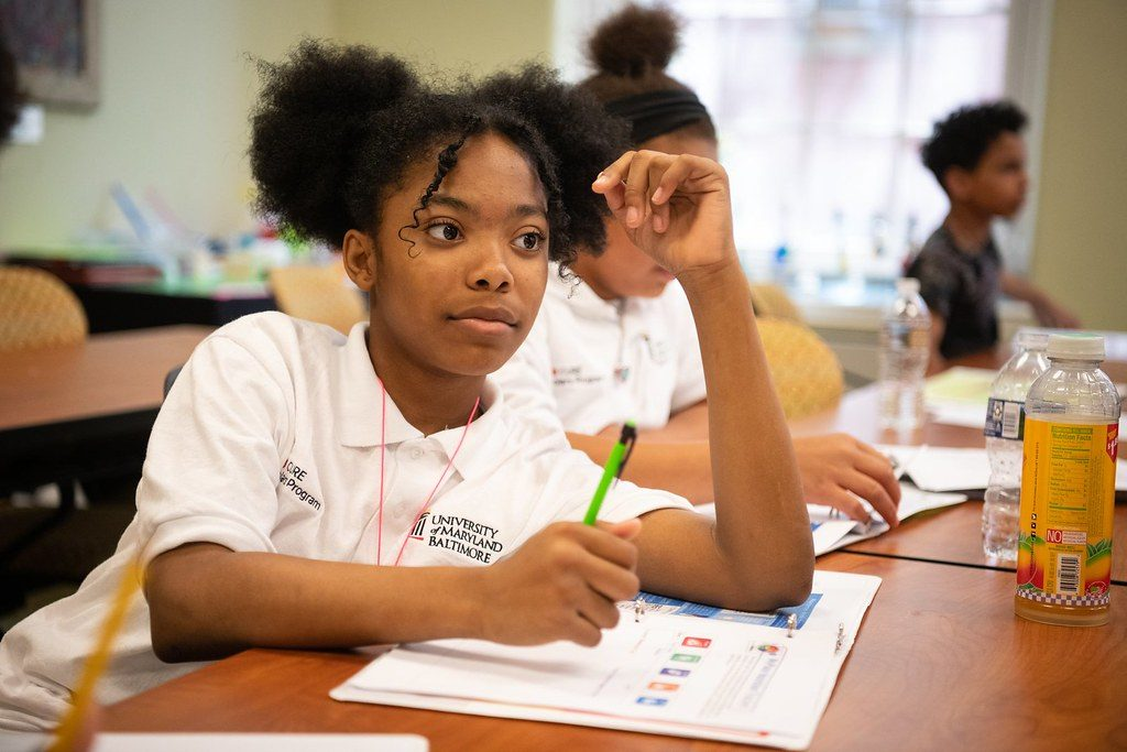 The summer program at YouthWorks in Baltimore, shown from last year, has been able to offer only a little more than half of its normal 8,000 jobs. That's better than some other large cities, which have canceled their summer youth job programs entirely. (YouthWorks)