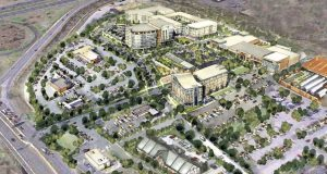 Situated along the 214 Central Ave. corridor, Hampton Park is the redevelopment of the 25-acre site formerly known as Hampton Mall and will bring more than 500,000 square feet of mixed-use, new construction to Capitol Heights. (Rendering courtesy of Design Collective)