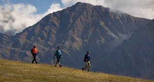 On G Adventures's Mt. Blanc Trekking tour, safety guidelines stipulate that members of the group maintain six feet of distance between themselves. (G Adventures, Inc.)
