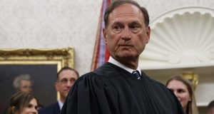 Supreme Court Justice Samuel Alito is shown after a swearing-in ceremony at the White House in 2019. While Alito directed Pennsylvania elections officials to segregate mail-in votes received in the three-day  window following Election Day, no further action has come. (AP Photo/Carolyn Kaster)