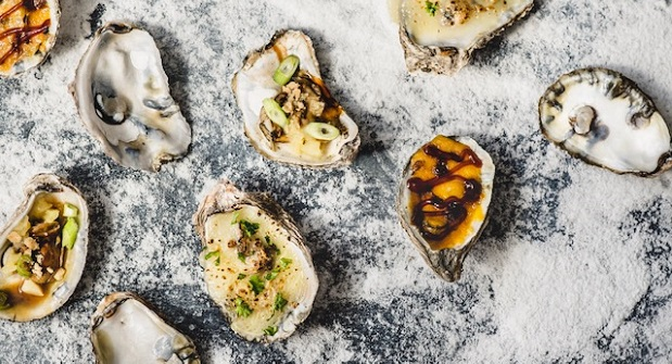 """Chargrilled oysters from the menu of Urban Oyster, which is partnering with a Mount Vernon hotel for a """"Pick-Up and Pop-Up"""" eatery during the pandemic. (Submitted Photo)"""