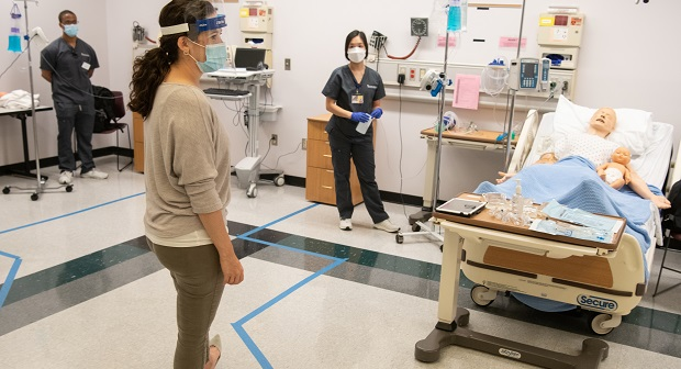 Some University of Maryland School of Nursing students returned for hands-on learning in simulation labs over the summer. (Submitted Photo)