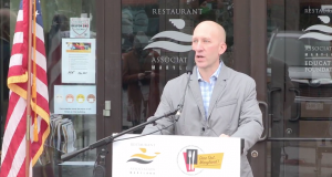 Marshall Weston of the Restaurant Association of Maryland announced Friday that the industry group would be taking action to stop dining bans in three Md. jurisdictions