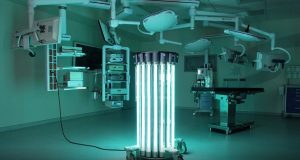 The robots use ultraviolet-C light to deactivate viral cells in the air and on surfaces. They were originally designed to be used primarily in hospitals. (Submitted Photo)