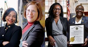 A panel will discuss key women's issues in the 2021 Maryland General Assembly as part of the Women's Legislative Summit on Feb. 22. Panelists include from left, Sen. Jill Carter (D-Baltimore City); Dortothy Lennig, House of Ruth; moderator Caryn York, Job Opportunity Task Force; and Del. Brenda Thiam (R-Washington county).(Submitted & file photos)