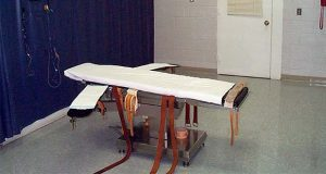 FILE - This undated file photo provided by the Virginia Department of Corrections shows the execution chamber at the Greensville Correctional Center in Jarratt, Va. Death penalty opponents are cautiously optimistic they have enough bipartisan support from lawmakers to pass a bill in 2021 ending executions in Virginia. Democratic Sen. Scott Surovell is again sponsoring a bill that would abolish the death penalty, and he has a Republican chief co-patron.   (Virginia Department of Corrections via AP, File)
