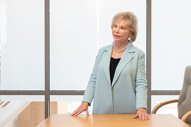 Alumna and honored Maryland leader Nancy Grasmick, Ph.D. lends vision, philanthropic support to institute furthering TU's mission as anchor institution providing leadership for the public good.
