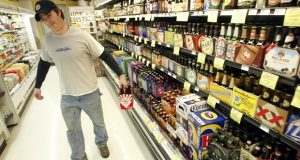 One of the bills rejected by a Maryland House committee would have allowed beer and wine sales in grocery stores in areas that are regarded as food deserts. (AP Photo/John Gress)