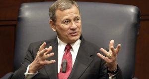 During Wednesday's arguments, Chief Justice John Roberts, shown during a 2019 appearance in Nashville, Tennessee, posed a number of hypothetical scenarios to explore what would be constitutional limits to police authority. (AP Photo/Mark Humphrey, File)
