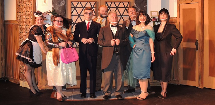 """Way Off Broadway in Frederick has found its dinner theater style makes it easier to offer its latest production, """"Clue: On Stage."""" (Submitted Photo)"""