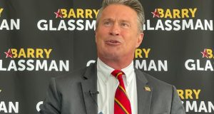Harford County Executive Barry Glassman Thursday announces his candidacy for the Republican nomination for comptroller. (The Daily Record/Bryan P. Sears)