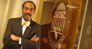 Dr. E. Albert Reece, MD, Ph.D., MBA, who is also executive vice president for UM Baltimore and the John Z. and Akiko K. Bowers Distinguished Professor, was appointed as the UMSOM's 30th dean in 2006. (File photo/The Daily Record)