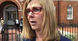 Anne Arundel County State's Attorney Anne Colt Leitess, shown on April, 4, 2019, said Thursday that the man who murdered five people at the Capital Gazette newspaper office in Annapolis acted out of revenge for an article about his prior harassment case that he believed would hurt his ability to get dates with women. (AP Photo/Brian Witte)