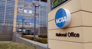 The national office of the NCAA in Indianapolis is shown In this March 12, 2020, file photo. (AP Photo/Michael Conroy, File)
