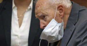 Former Roman Catholic Cardinal Theodore McCarrick appears for a arraignment at Dedham District Court on Sept. 3, 2021, in Dedham, Massachusetts. McCarrick has pleaded not guilty to sexually assaulting a 16-year-old boy during a wedding reception in Massachusetts nearly 50 years ago. (David L Ryan/The Boston Globe via AP, Pool)